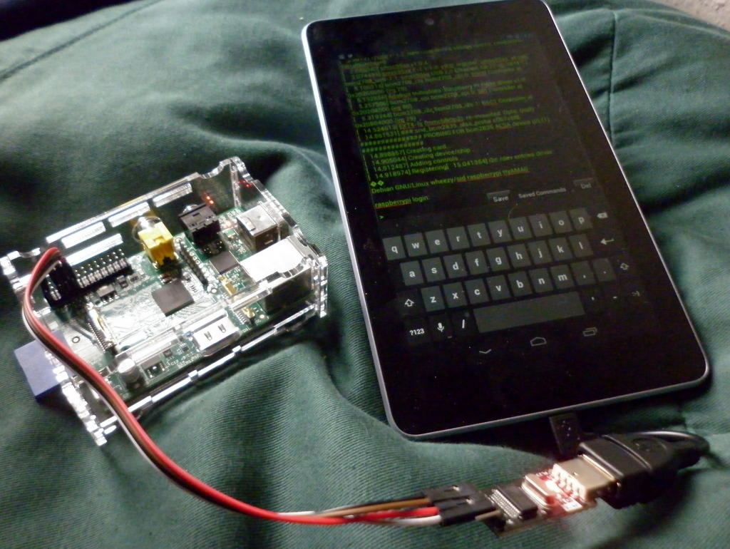 Phone Raspberry Pi Android Phone using the raspberry pi from a google nexus 7 makerspace