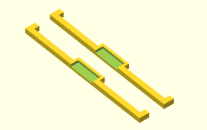 openSCAD DIP switch clamps for bread board  use